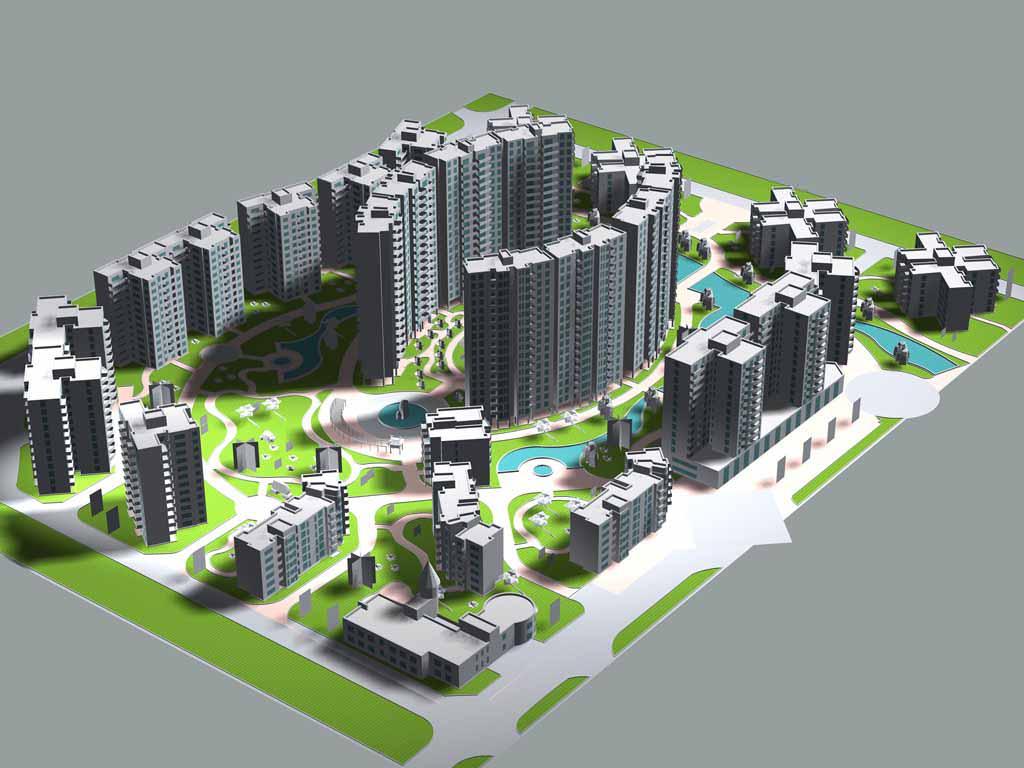 三维雕塑库:    本软件包括地形,道路,建筑,绿化,环境,管网,日照分析